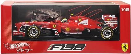 Hot wheels M0550 Felipe Massa Ferrari F1 Hat Trick Turkish GP Formula 1 1//18 Diecast Model Car by Hotwheels