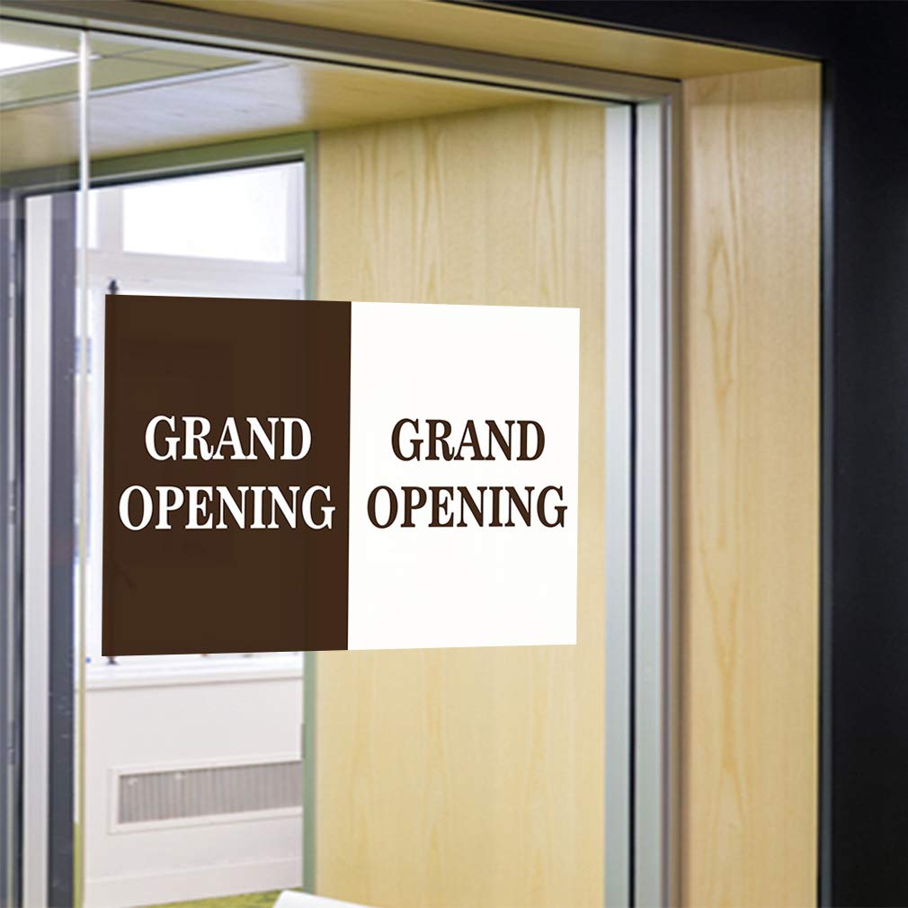 Vinyl Banner Multiple Sizes Grand Opening Gran Business Outdoor Weatherproof Industrial Yard Signs Brown 10 Grommets 60x144Inches