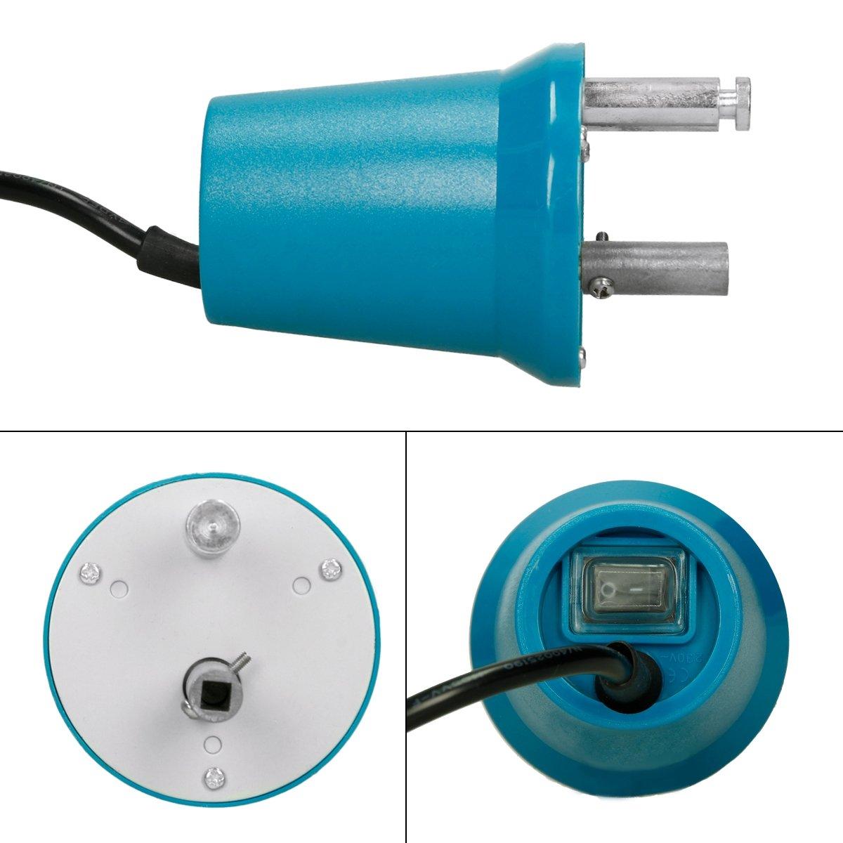 ECD Germany Motor eléctrico para Barbacoa 4W 220-240V 2-2.4 r/min Motor para Pinchos de asador giratorios + Pinchos giratorios Set de 2 Piezas: Amazon.es: ...