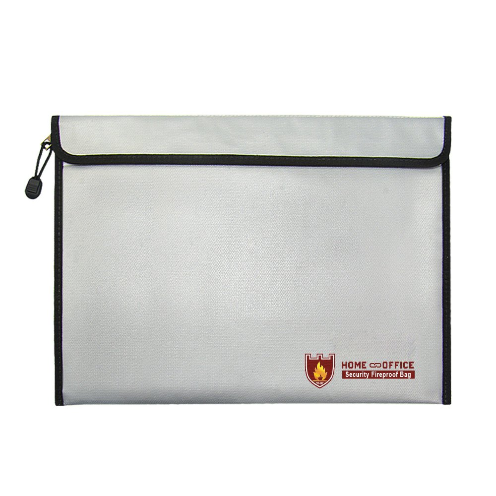 Fireproof Document Bag 15 x 11 Inch Waterproof Money Bag Protects Wallet Important Documents Cash Tablet Jewelry Passport