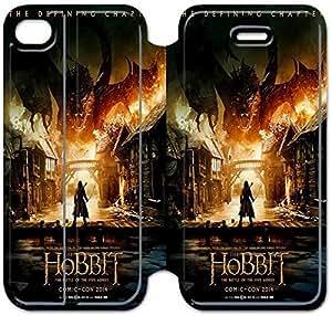 iPhone 4 4s funda,NSDFIUOSY7682 Flip cubierta y soporte para iPhone 4 4s - EL HOBBIT