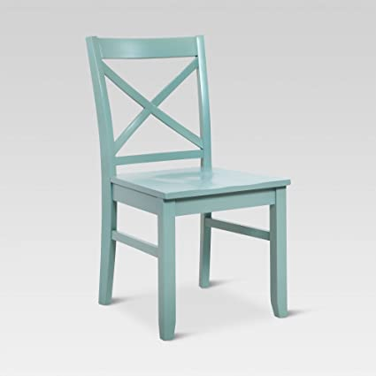 Carey Dining Chair - Pale Blue (1 Pack) - Threshold & Amazon.com - Carey Dining Chair - Pale Blue (1 Pack) - Threshold ...