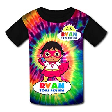 34d3c12398a Amazon.com: V5S4832ASG Nice Toy_-_Ryan Toys_-_Review T-Shirt Short Sleeve  Tee for Kid's Black: Clothing