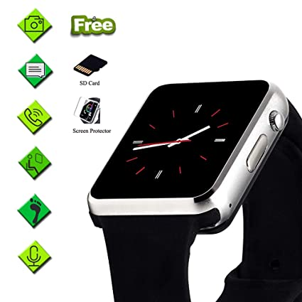 Smart Watch for Android Phone,Touchscreen SmartWatch with Call Text Sync SD&SIM Card Slot Camera Compatible with iPhone/Samsung/Huawei,Recording Music ...