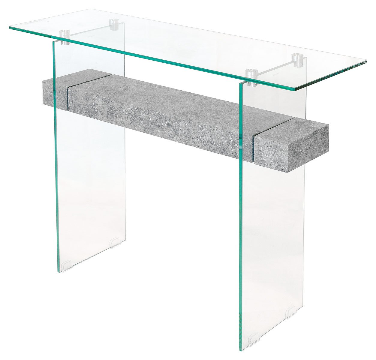 Febland Stone Effect Glass Console Table, Grey, 100x35x81.5 Cm:  Amazon.co.uk: Kitchen U0026 Home