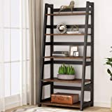 Tribesigns 5-Tier Bookshelf Industrial Bookcase, 5 Shelf Ladder Shelf Book Storage Shelf Organizer for Living Room, Home Offi