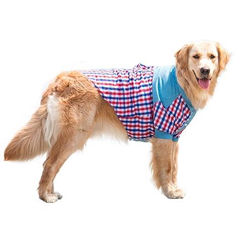 Feiboy Mascotas Ligero Camisa Pet Transpirable Abrigo Moda ...