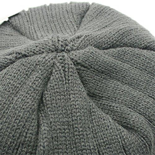 terciopelo sombrero de esquí Gorra oscuro para BaronHong punto el invierno azul de hombres de Gorra qwnXYaE0