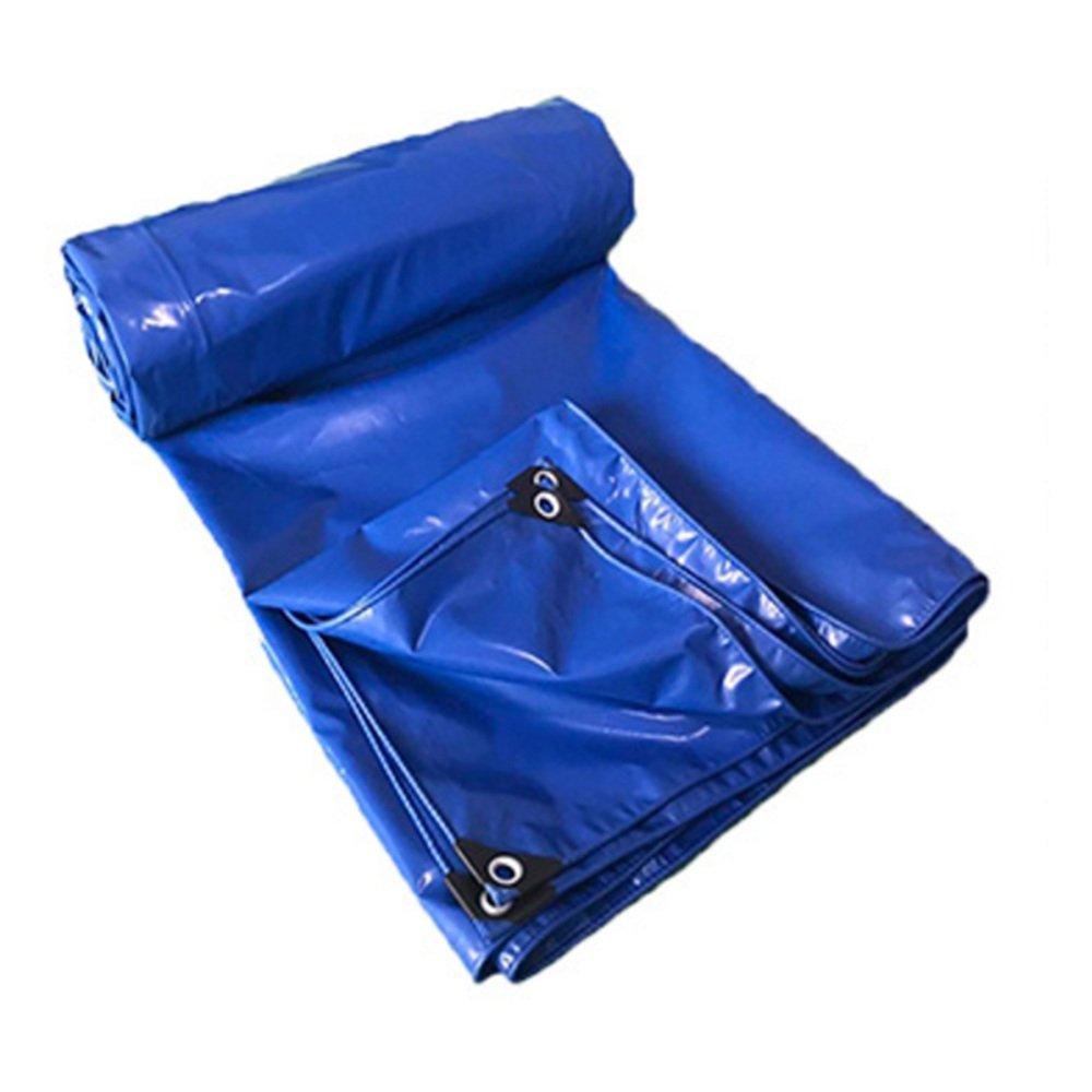 QX pengbu IAIZI Wasserdichter Schwerer Plane-Blauer Lager-Garage PVC-wasserdichter Sonnenschutz (Farbe   Blau, größe   6  7m)
