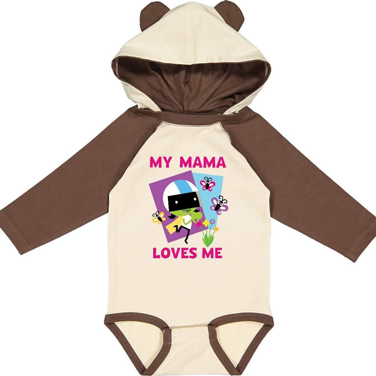 inktastic My Mama Loves Me with Dee Long Sleeve Creeper PBS Kids
