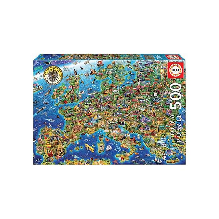 61TUNLD%2BOzL Número de piezas: 500, medida aproximada una vez montado: 48 x 34 Serie Genuine Alta calidad de materiales y encaje óptimo de las piezas; producto respetuoso con el medioambiente