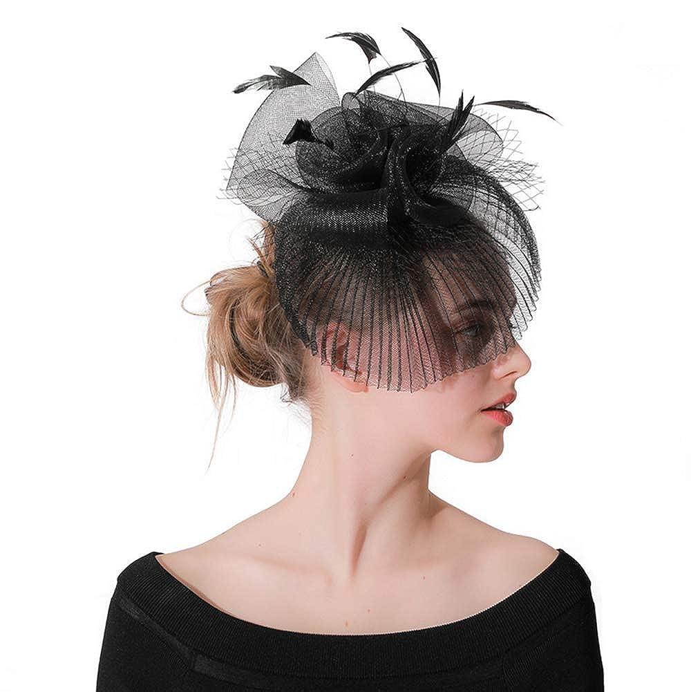 BUIOR Chapeau Bibi Style ann/ées 20 et 50 pour Femme