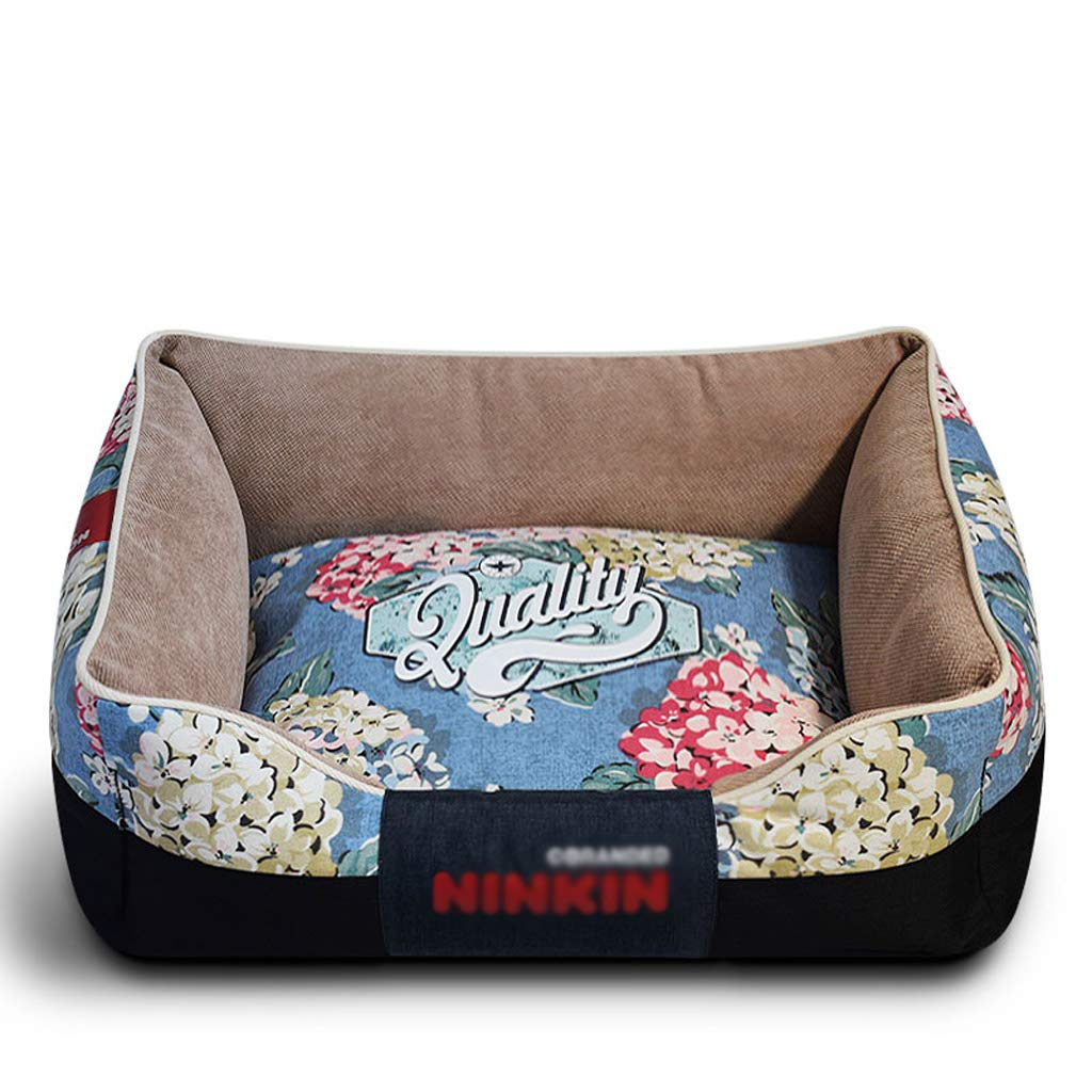 A XlPet Bed Cozy Luxury Dog Bed Sofa with Canvas Cover Fully Washable Cat Bed (color   A, Size   XL)