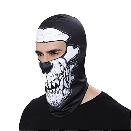f668416ae61 3D Animal Skull Full Face Mask Winter Motorcycle Bicycle Bike Hood  Breathable Outdoor Sport Cosply Costume For Cycling Motorcycle Snowboard  Hunting Ski ...