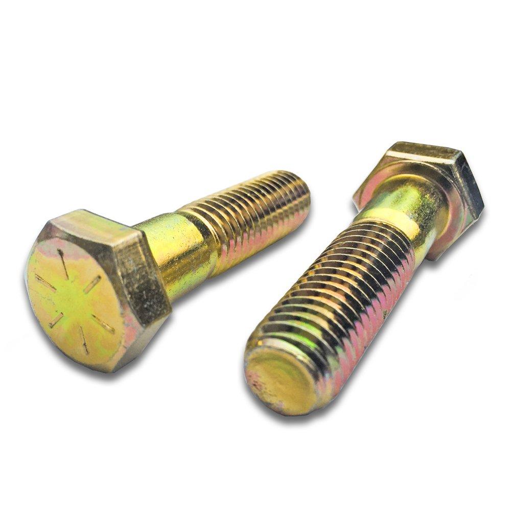 (25) 5/8-11 x 3'' Hex Head Cap Screws Bolts Grade 8 Yellow COARSE Thread