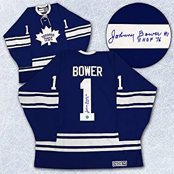 0c68c971b Johnny Bower Toronto Maple Leafs Autographed 1967 Stanley Cup Retro CCM  Jersey - Signed Hockey Jerseys