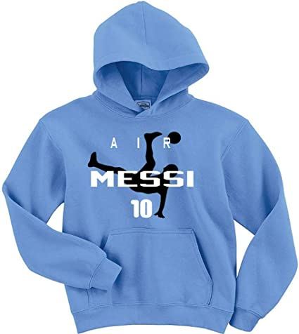 """Lionel Messi Argentina """"Air Messi"""" Hooded Sweatshirt ADULT LARGE"""