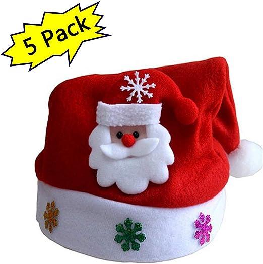 QIANC Navidad Sombrero De Santa Sombrero Cubiertas Decoración, Led Cornamenta Diadema, Diadema Navideña, Círculo De Pat, para Navidad Fiesta Regalo Niño,A,M: Amazon.es: Hogar