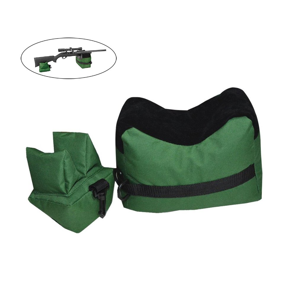 TEKCAM Shooting Rest Bag Set Outdoor Rifle Target Sports Bench Steady Unfilled Front & Rear Bags for Shooting Hunting