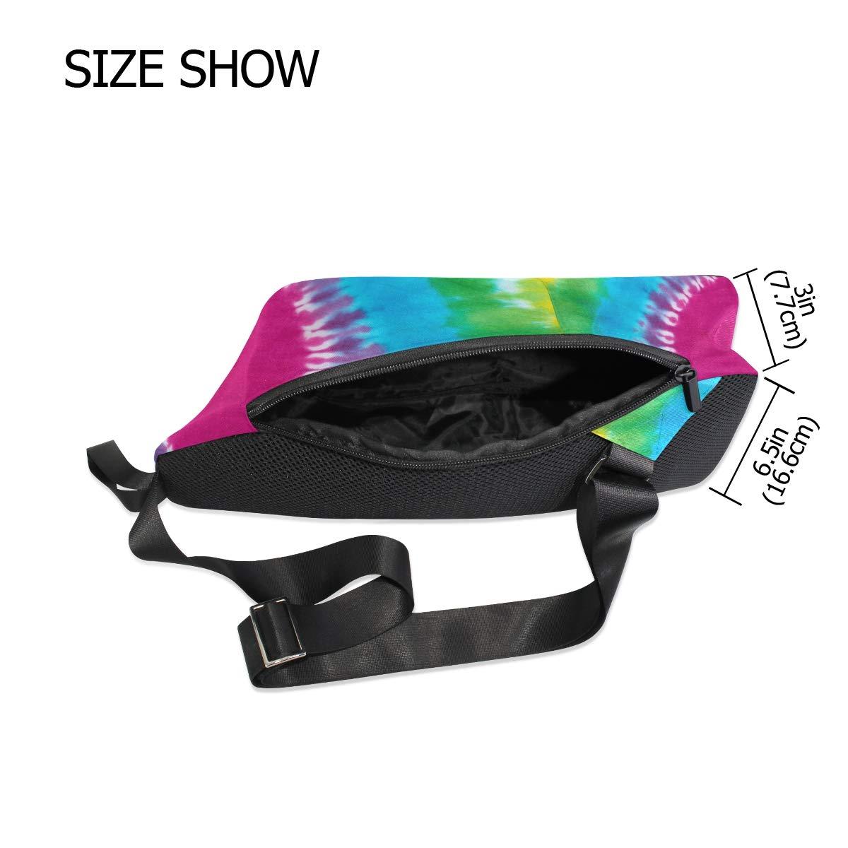 TFONE Tie Dye Heart Pattern Crossbody Bag Lightweight Chest Shoulder Messenger Pack Backpack Sling Bag