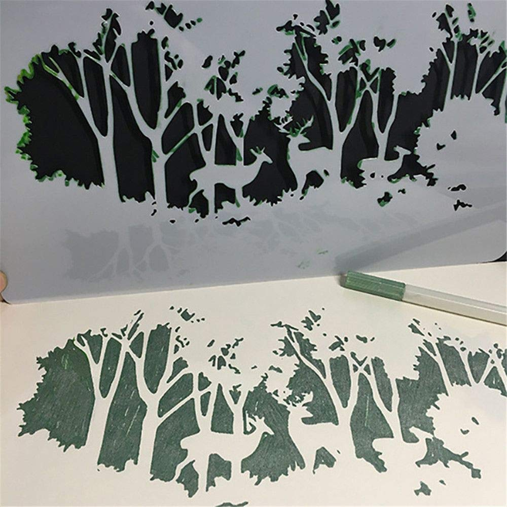 Tree Nature A4 Mylar Reusable Stencil Airbrush Painting Art Craft DIY