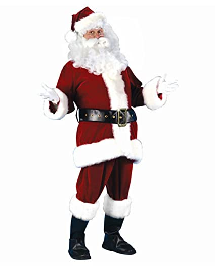 Amazon.com: 7-Piece felpa velvetón de Papá Noel Navidad ...