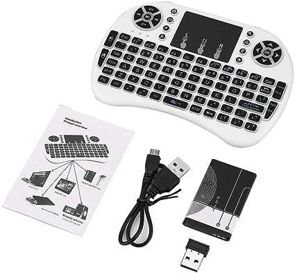Kinshops Mini Teclado Remoto inalámbrico de 2.4GHz con Mouse ...