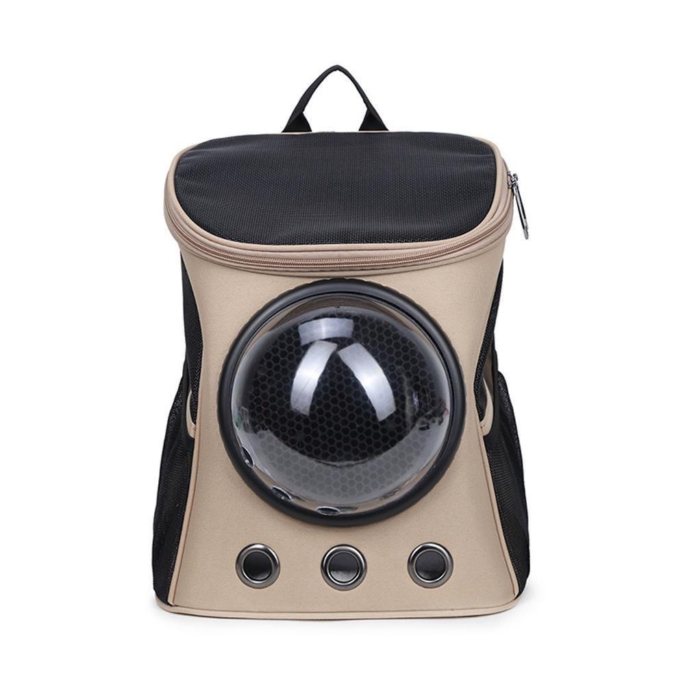 A Maerye Pet Bag Canvas capsule pet backpack Transparent breathable backpack out portable cat bag pet transport bag suitable for 58 kg dog