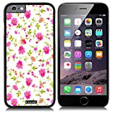 CocoZ® New Apple Iphone 6 s 4.7-inch Case Beautiful flowers PC Material Case (Black PC & flowers 34)