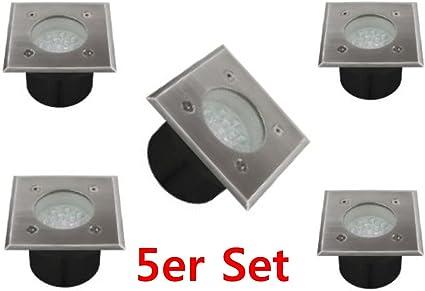 1 x Bodeneinbaustrahler quatratisch Bodenstrahler Bodenlampe LED eckig K