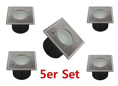 Sehr 5er Set LED Bodeneinbauleuchte Bodeneinbaustrahler 1W 14LED  PR46