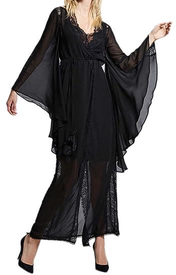Veste longue satin femme