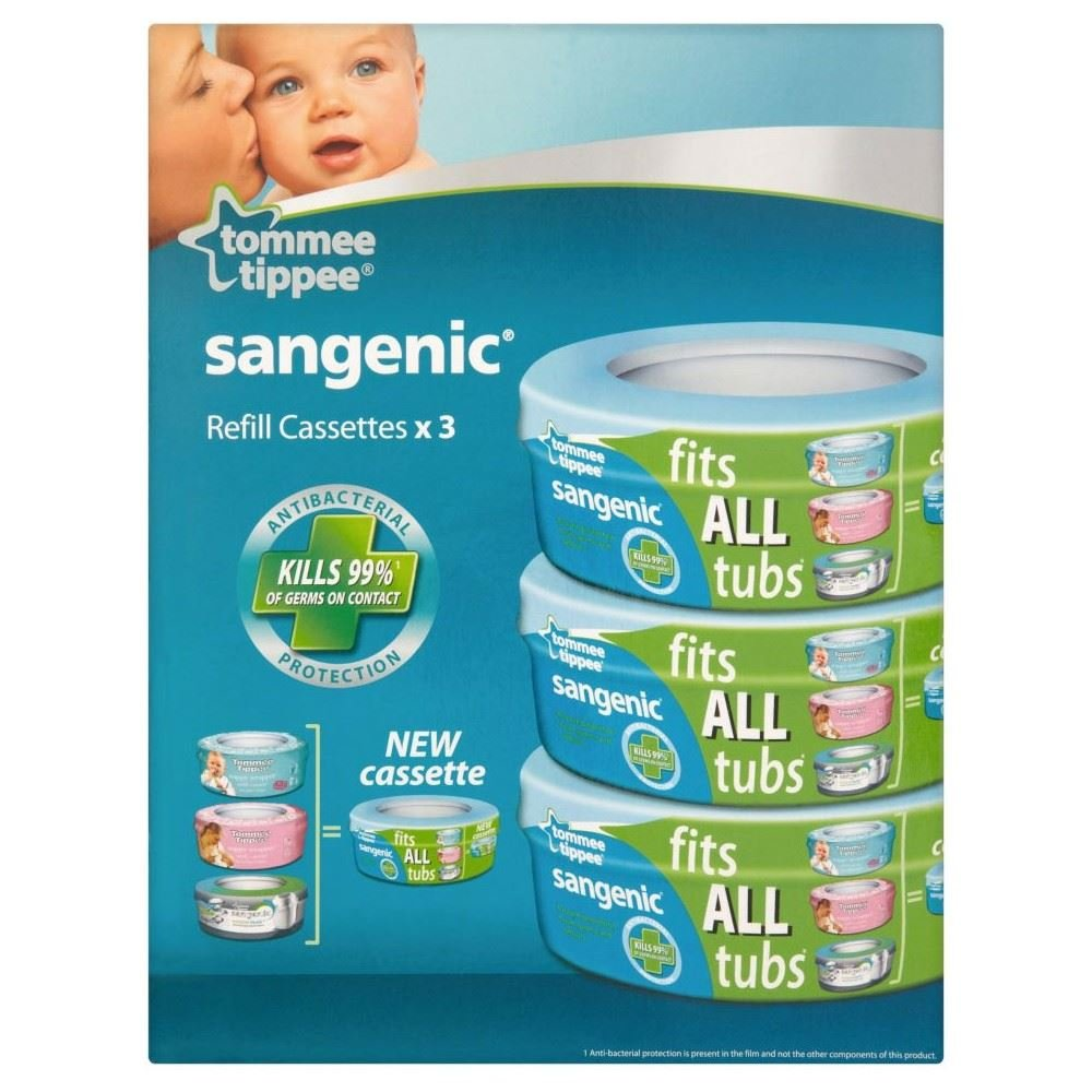 Tommee Tippee Sangenic Hygiene Plus Nappy Wrapper Refill Cassette 0mth+ (3)