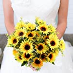 NAHUAA-4PCS-Artificial-Sunflowers-Bundles-Fake-Silk-Flowers-Bouquets-Fuax-Floral-Table-Centerpieces-Arrangements-Decor-Wedding-Home-Kitchen-Office-Windowsill-Spring-Decorations