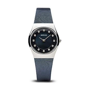 BERING Reloj Analógico para Mujer de Cuarzo con Correa en Acero Inoxidable 11927-307: Amazon.es: Relojes