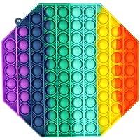 Tianbi Regnbåge tryck pop bubbla fidget sensoriska leksaker, push it fid leksaker för ångestlindring, extruderingsbubbla…