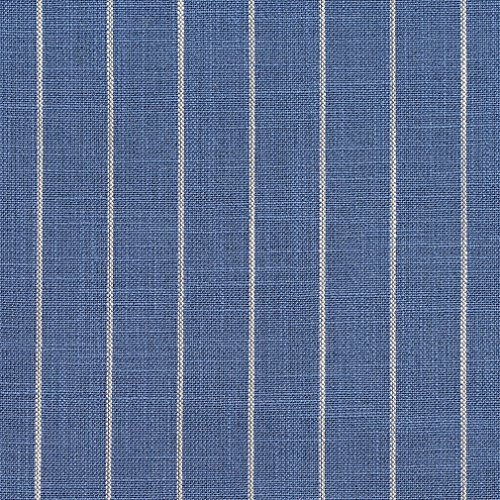 - Wedgewood Pinstripe Light Blue Country Lodge Cabin Small Scale Stripe Linen Silk Looks Tweed Textures Fade Resistant Upholstery Fabric by The Yard