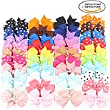 Kissbuty 40PCS 3.1 Inch Baby Girls Grosgrain Ribbon...