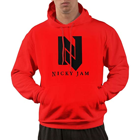 Mens Nicky Jam Long Sleeves Casual Hoodie with Pocket XL: Amazon ...