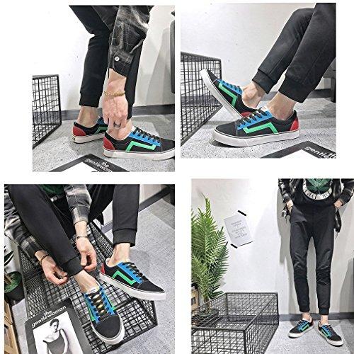 Donna Color Couple Moda Scarpe Primavera Sportive 4 Verde Espadrillas Minetom Sneaker Block Con Colori Unisex D'autunno Uomo Casual Lacci 54wzFq
