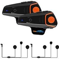 Fodsports BT-S2 Intercomunicadores Moto de motocicleta Auricular Bluetooth