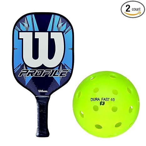 Amazon.com : Wilson Profile Blue/White Graphite Polymer ...