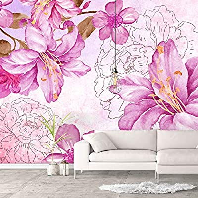 Delightful Handicraft, Wall Murals for Bedroom Green Plants Animals Removable Wallpaper Peel and Stick Wall Stickers, Created Just For You