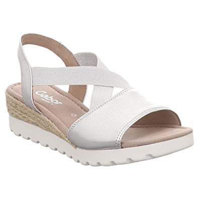 Gabor Comfort Sport Sandalette in Übergrößen Schwarz 82.754.47 Große Damenschuhe, Größe:42