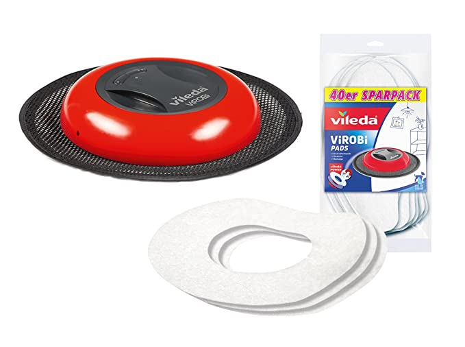 Vileda Virobi Slim polvo accesorio Robot con 40 almohadillas de repuesto adicionales