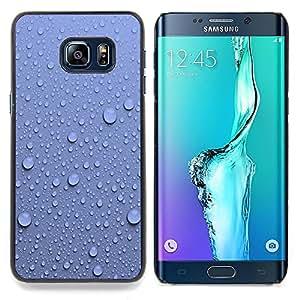 - Water Droplets Blue Wall Pattern Nature - Caja del tel????fono delgado Guardia Armor- For Samsung Galaxy S6 Edge Plus Devil Case