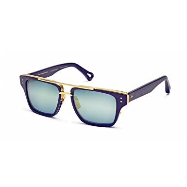 b93a4e1b699 Image Unavailable. Image not available for. Color  Dita Mach Three 3  Sunglasses DRX 2059 Matte Navy 18K Gold Blue Flash Lens 55 mm