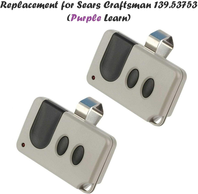 2 Garage Door Remote for Sears Craftsman 53753 139.53753