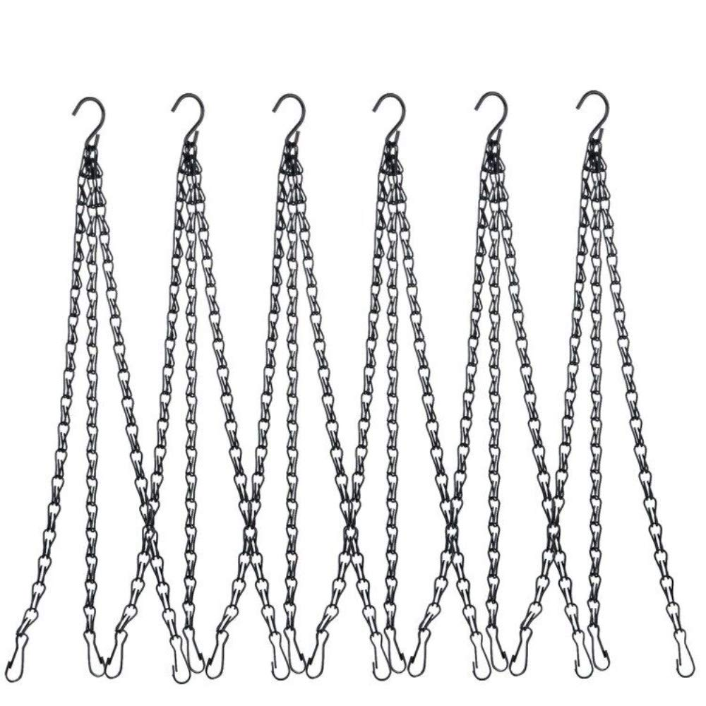 Black JYCRA 4 Pcs 22 Inch Hanging Chain Set Flower Pot Planter Basket Hanging Chains with Hook And Clips for Bird Feeders Planters Lanterns Ornaments