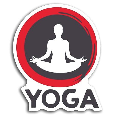 2 x 10 cm yoga de la actitud pegatinas de vinilo ...